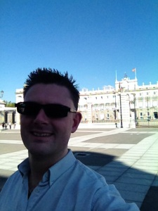 Selfie vid Kungliga palatset