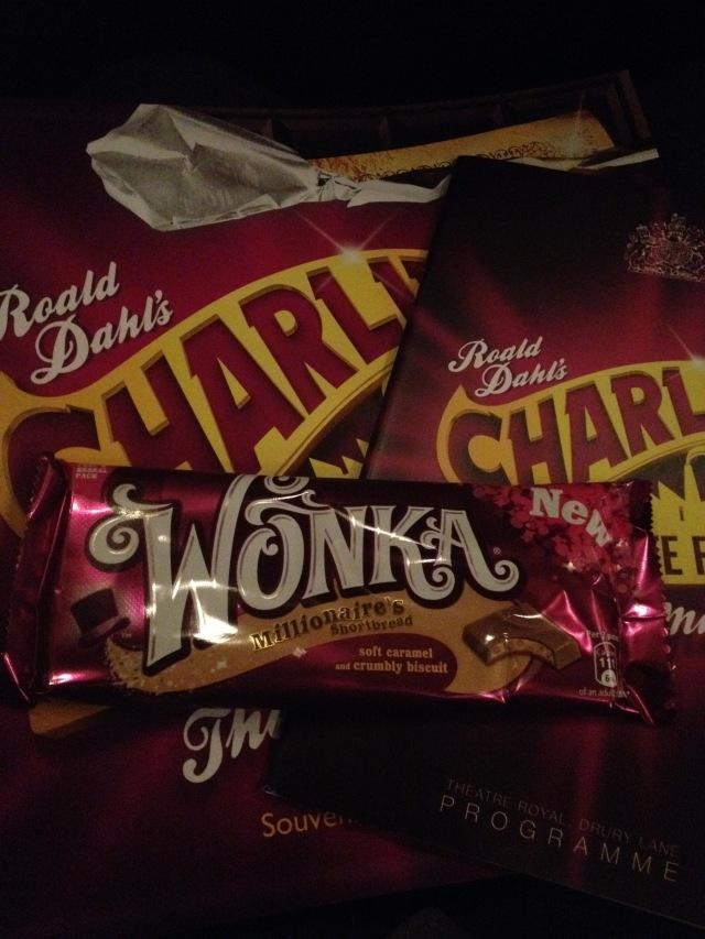 Programblad och givetvis Wonkas choklad