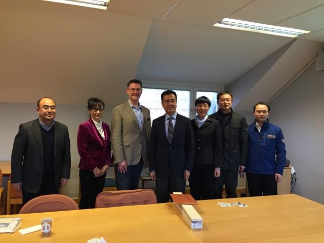 Delegationen från Chengdu, provinshuvudstad i Sichuan, på besök i Trelleborg.