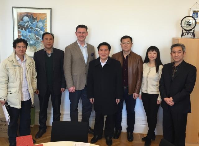 Hela delegationen från Zhangjiajie på besök i Trelleborg