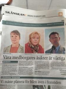 Debattartikel skriven med kollegorna i presidiet i Region Skånes Demokratiberedning
