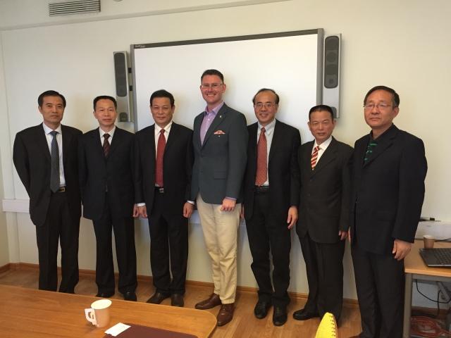 Delegationen från Hangzhou på besök i Trelleborg