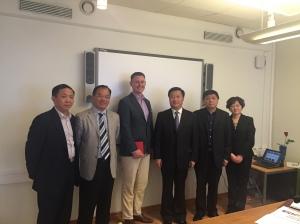 Delegationen från Putuo, en av provinserna i Shanghai