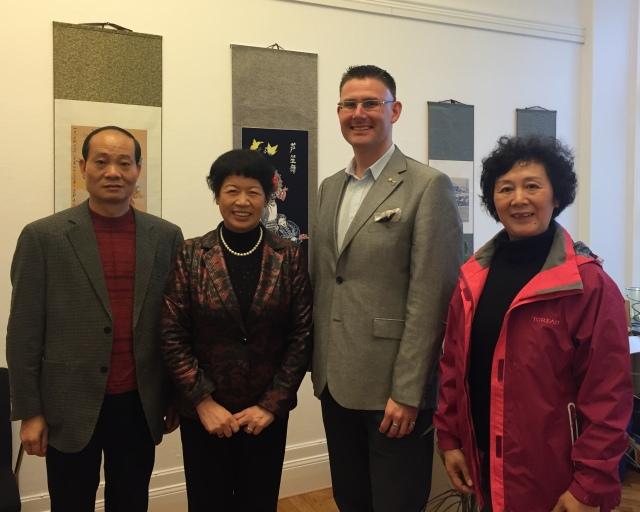Delegationen från Chenzhou