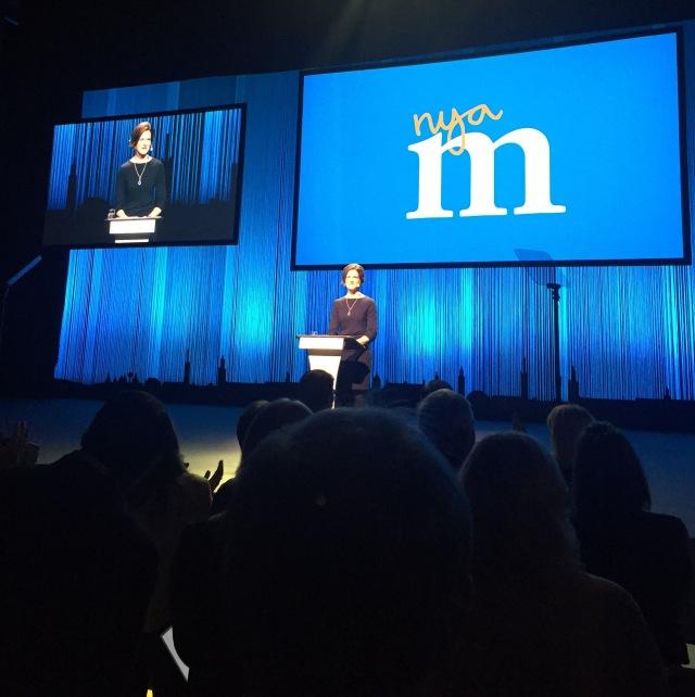Anna Kinberg Batra håller ett mycket bra och inspirerande tal på stämman