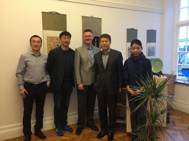 Delegationen från Hepingdistriktet i Shenyang i Trelleborg