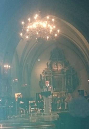 Tal av mig under musik- och poesiafton i Sankt Nikolaikyrkan