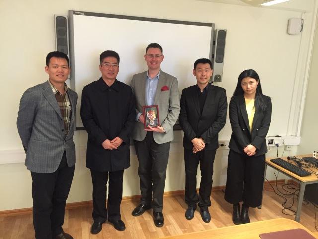 Delegationen från Harbin på besök i Trelleborg