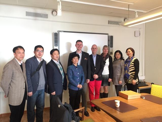 Delegationen från Wuhan möter Trelleborgs kommun