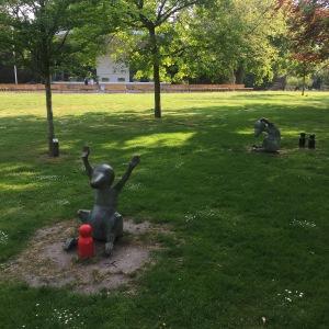 Älskade varelser i Stadsparken i Trelleborg