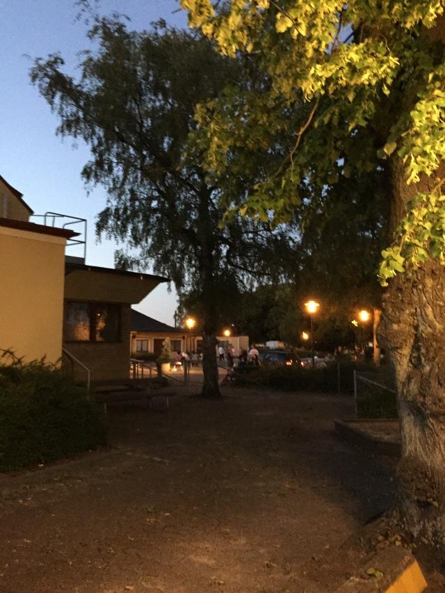 En vanlig tisdagskväll vid 22-tiden brukar det inte vara fullt av ungdomar i Parken.