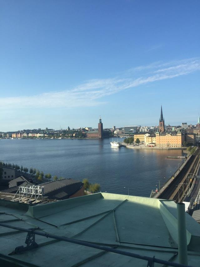Den underbara utsikten från tolfte våningen på SKL.  Undrar om jag får blicka ut över Stockholm igen....