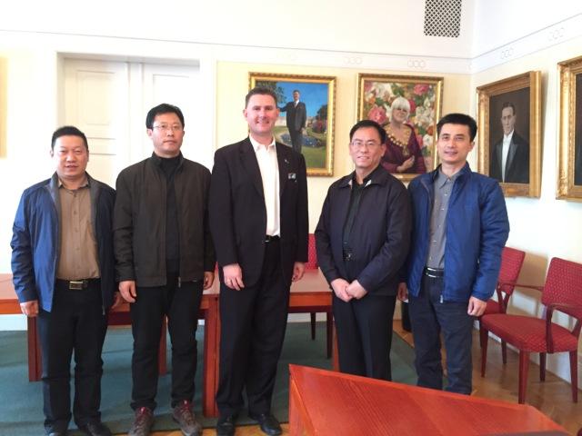Delegationen från Zhenjiangprovinsen på besök i Trelleborg