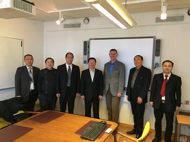 Delegationen från Chongqing där jag och ledaren är slipslösa