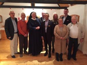 På besök med Rotary på Christens gård