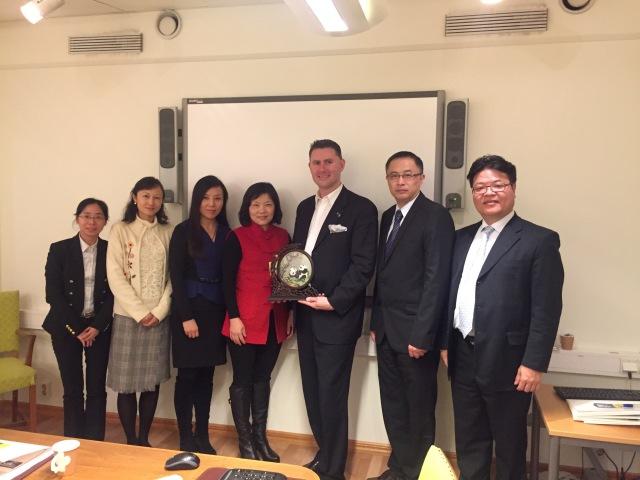 Delegationen från Shanghai Medical Association