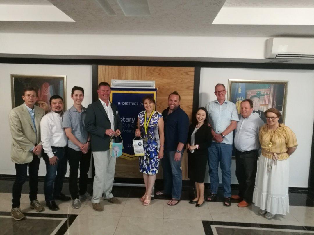 Rotaryklubben i Astana och jag