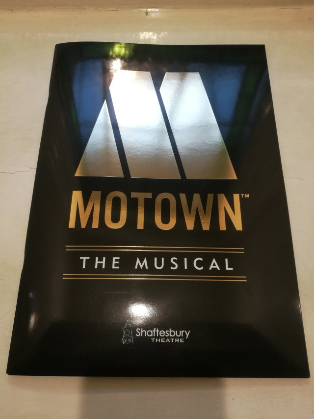 Programbladet till musikalen Motown