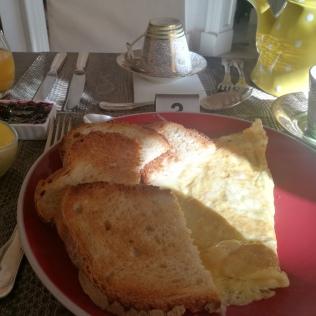 Nygjord frukostomelett