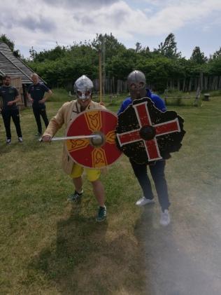 Tuffa vikingar på Trelleborgen