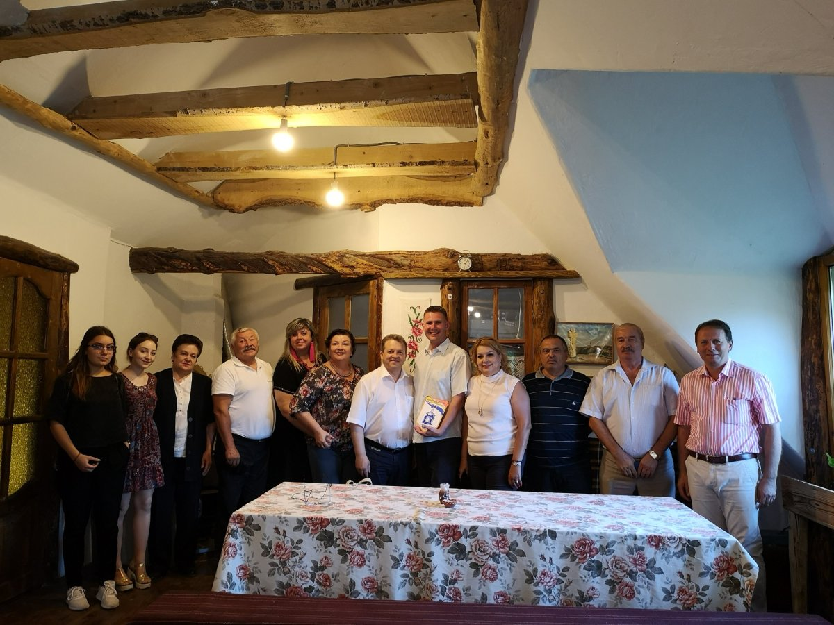 Gruppfoto från Rotary i Chisinau