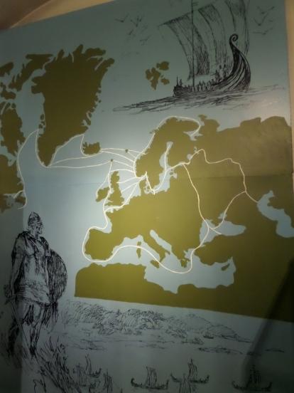 Karta över vikingarnas resor