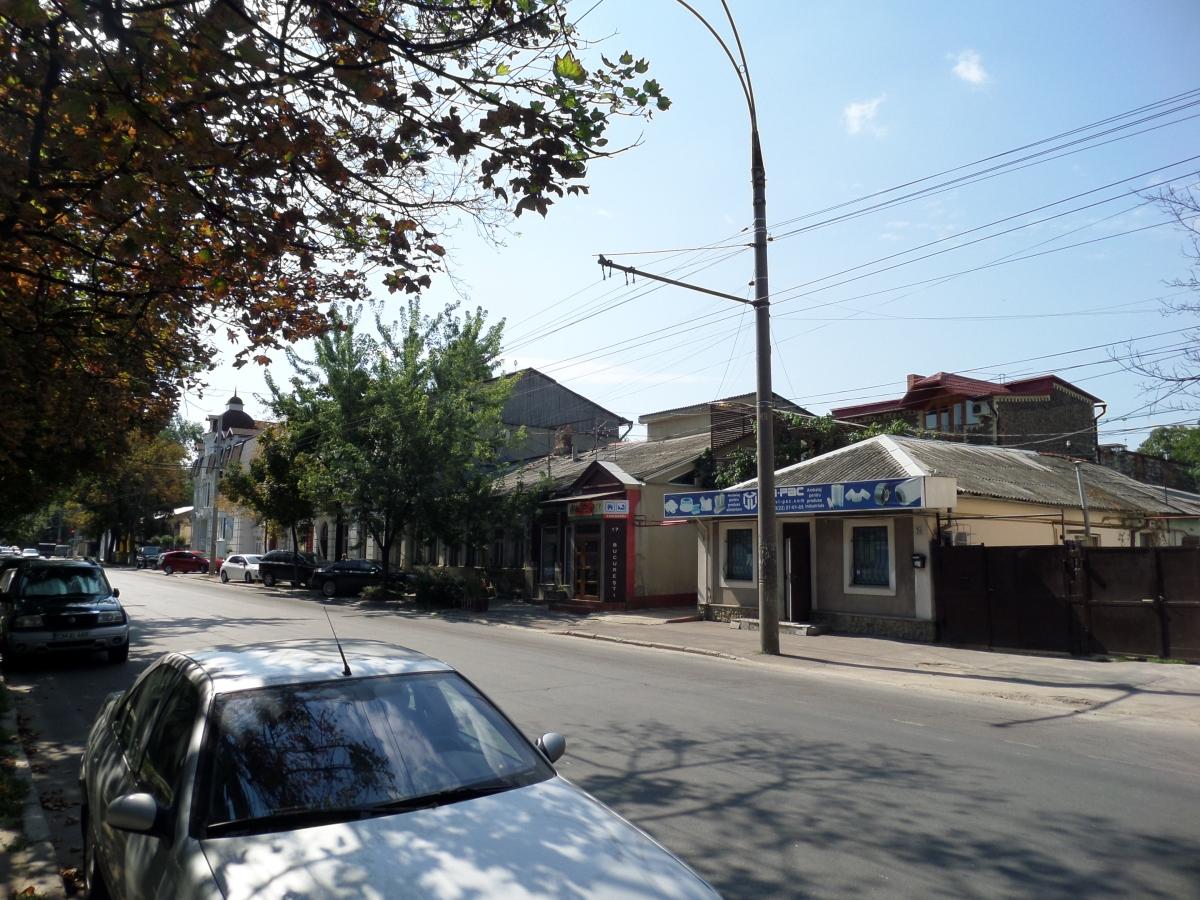 Låga hus i Chisinau