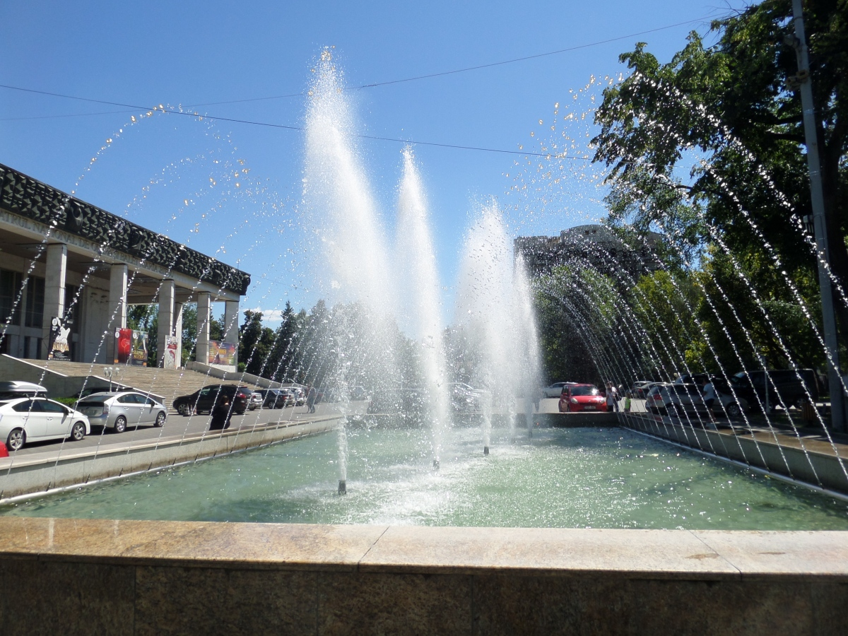 Fontan utanför opera- och baletthuset Chisinau