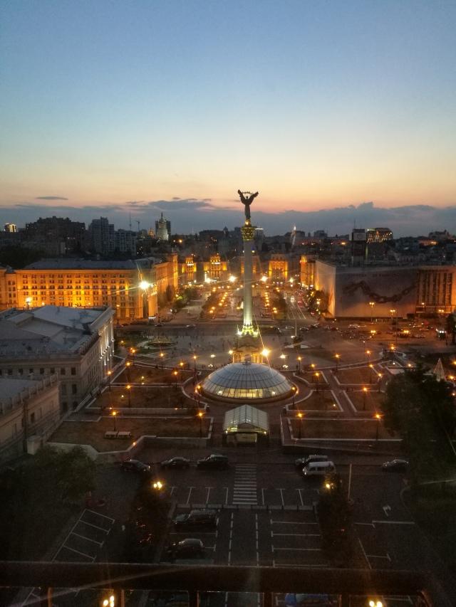 Självständighetstorget i Kiev