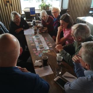 Diskussion kring hållbarhetsarbete och Rotary